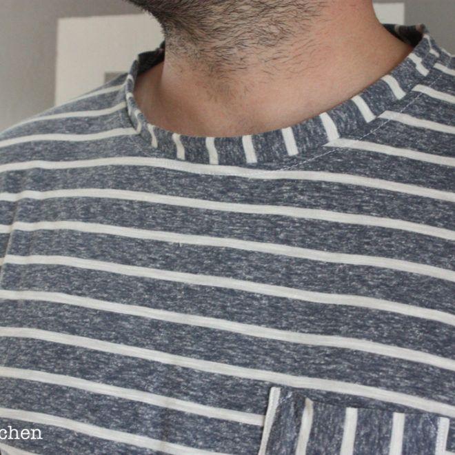 T-shirt für Männer. Schnitt Max von Pattydoo. JanaKnöpfchen Nähen für jungs