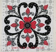 What's black and white and red all over? This free pattern from RJR Fabrics! Love this block
