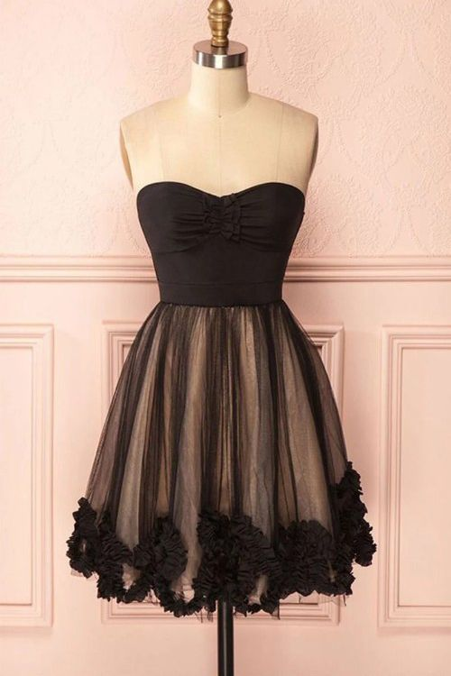 Vestido preto curto bonito do baile, vestido do regresso a casa do querido   – sexy prom dress