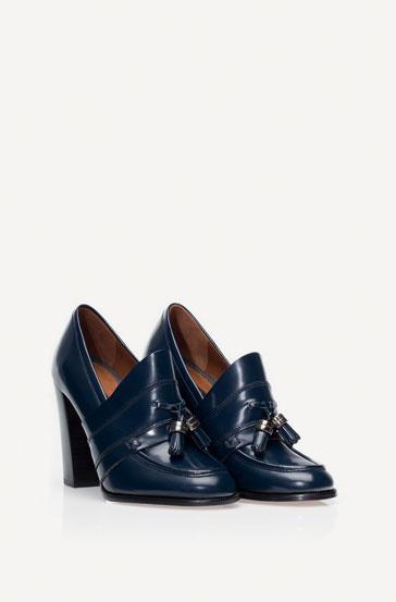 Massimo Dutti   Blue Heel Moccasin