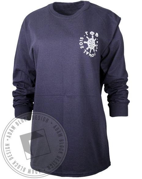 Gamma Phi Beta On A Boat Long Sleeve by Adam Block Design | Custom Greek Apparel & Sorority Clothes | www.adamblockdesign.com