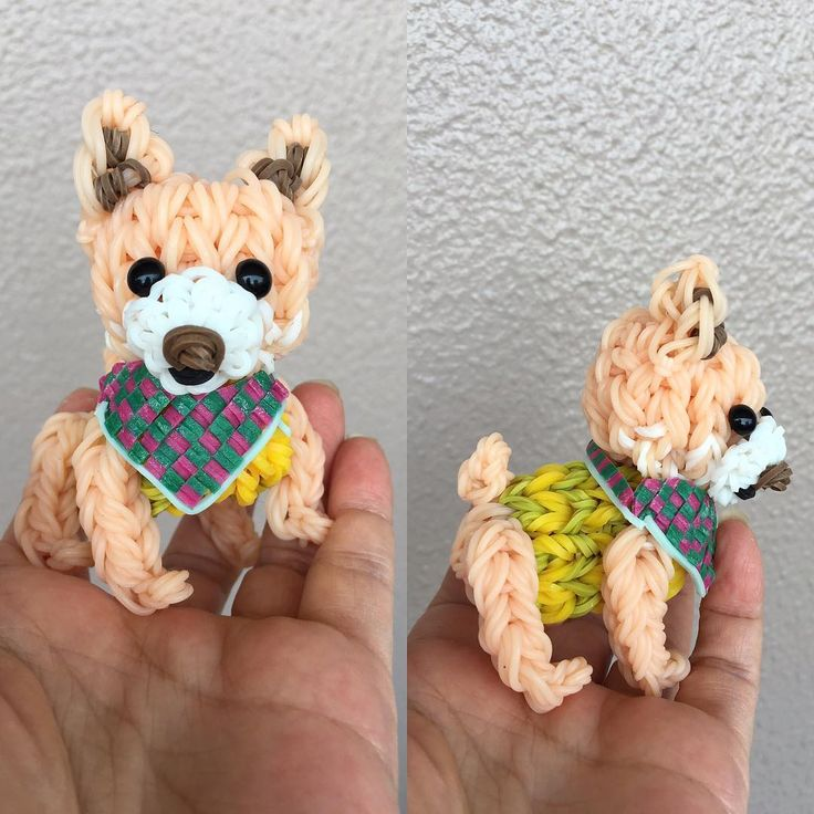 Rainbow Loom Dog by kabapekoayame