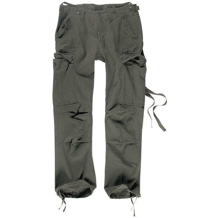"""Original """"Brandit"""" - """"M65 Ladies Trousers"""" Girlie-Hose  Die M65 Ladies Trouser ist die feminine Form der legendären Armeehose im Loose Fit: Leicht tiefer Schnitt und ein locker geschnittenes Bein. Die Taschen haben Patten mit Druckknopfverschluss und seitlich sind jeweils zwei Eingrifftaschen aufgenäht. An den seitlichen Cargotaschen befinden sich lange Bänder, die entweder nach aussen getragen oder in den großen Beintaschen versteckt werden können. Die beiden kleinen Gesäßtaschen mit ..."""