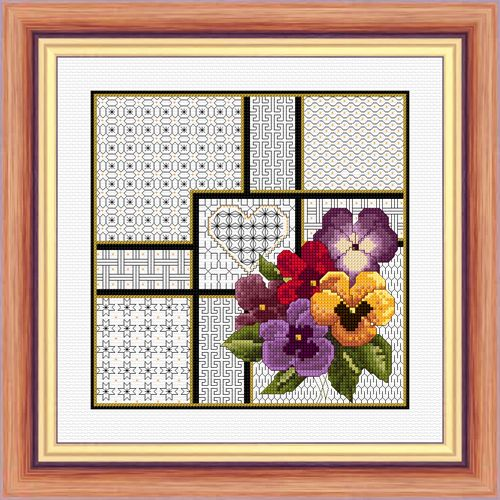 pansies & blackwork