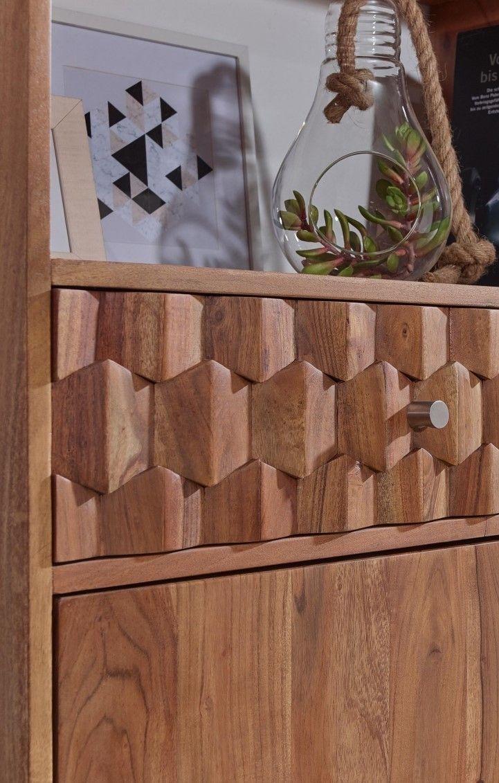 Bienenwabenform aus Akazienholz - Möbel - Serie • MOSAYK