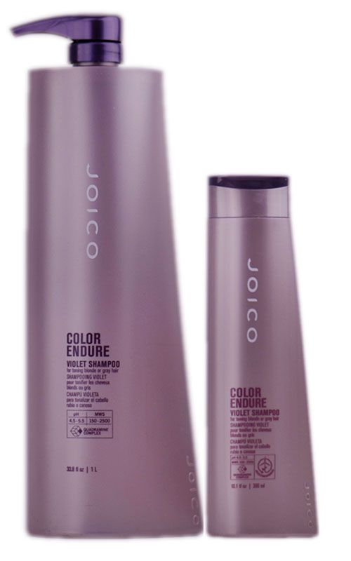 My go to purple shampoo. Keeps my hair nice and bright between touch-ups  <3    Joico Color Endure Violet Shampoo for toning blonde or gray hair