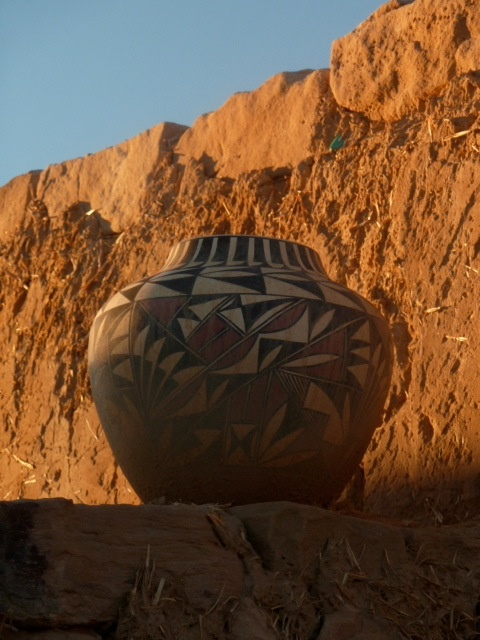 Traditional pottery from Acoma Pueblo, NM.