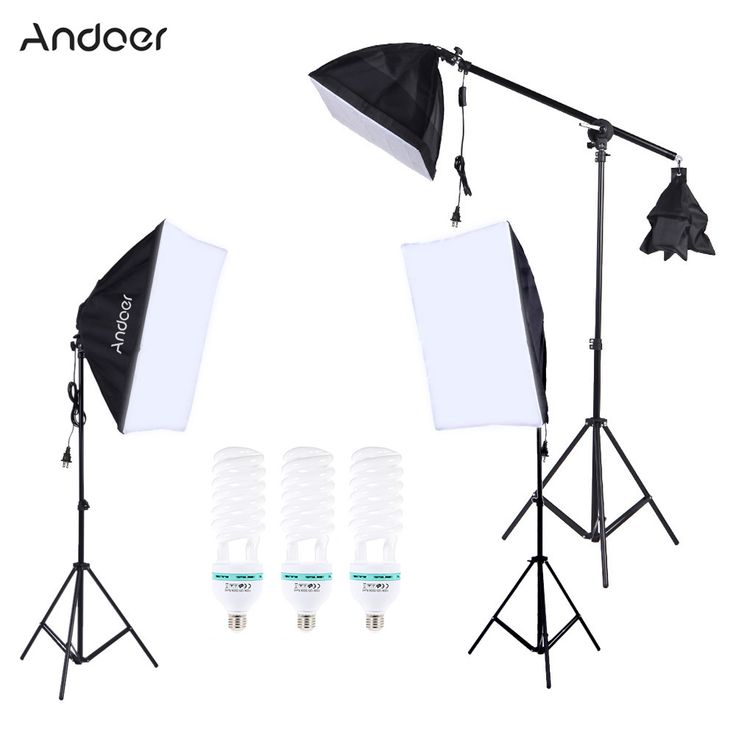 US DE STOCK Photography Photo Lighting Kit with 5500K 135W Daylight Studio Bulb Light Stand Square Cube Softbox Cantilever Bag //Price: $71.21//     #electonics