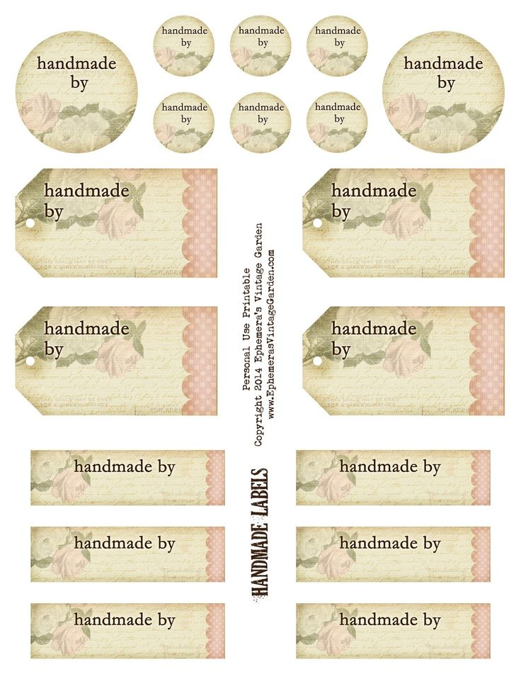Free Labels For Handmade Crafts