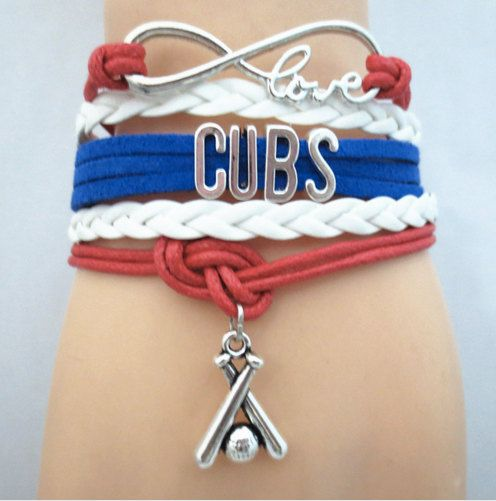 Cubs bracelet Perfect Chicago Cubs fan gift by MohawkNotIncluded