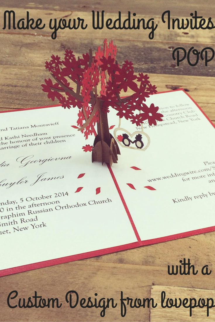 Make your Wedding Stationery stand out with a custom invite or save the date from lovepop cards