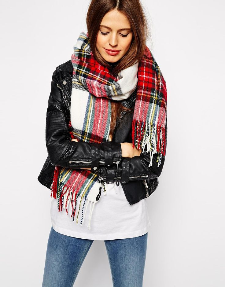 Out ofcstock atvASOS White Tartan Check Scarf....where to find another?