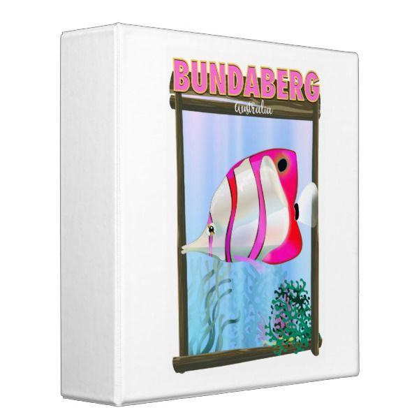 Bundaberg Australia Travel Poster 3 Ring Binder