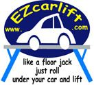 EZ CAR LIFT - FREE-STANDING USE-ANYWHERE CAR LIFT! FAST. SAFE. STRONG.EASY.