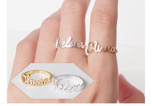 Dieser Ring ist personalisiert, mit (d) einer Handschrift/ Signatur. Zusätzlich personalisiert wird dieser durch die Gravur der Innenseite (Hand- oder Computerschrift).  Wort Limit: keins Die...