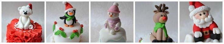 Mini Xmas Cakes - Cake by emma lockett