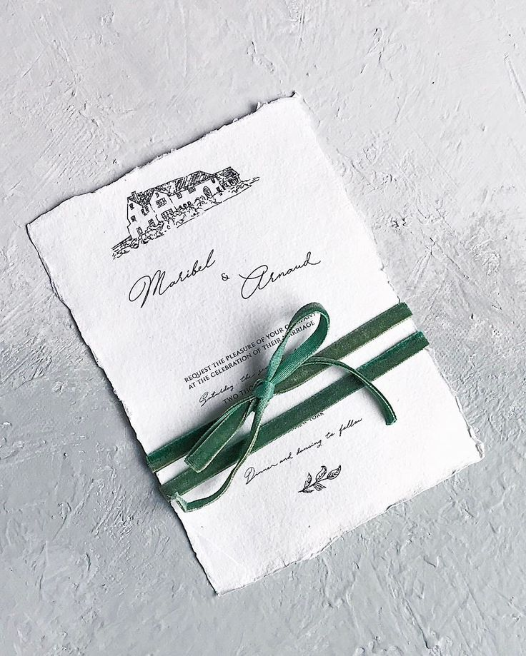 Bespoke wedding invitation // handmade paper, drawing, france, script