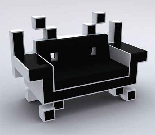 Space Invader couch is perfect for your retro game room - SlashGear - 43 Best Images About Video Game Room Ideas On Pinterest Vintage
