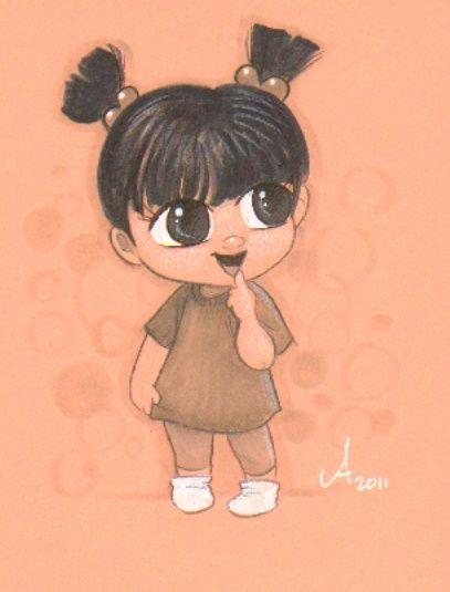 original cartoon drawing of little Boo