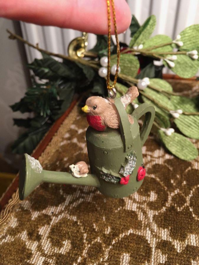 Gisela Graham Luxury Christmas Ornament St of 2 Ceramic Reindeers
