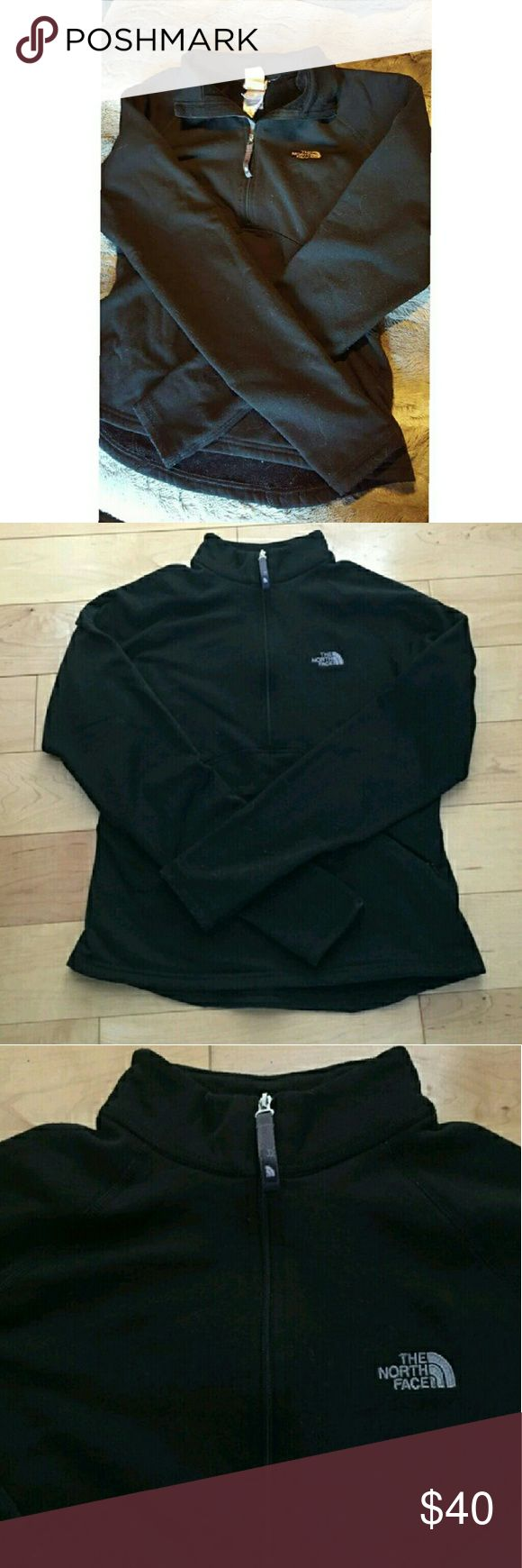 """The north face half zip Black """"the north face"""" half zip fleece lined jacket. Super cute! In great condition 💕 OPEN TO OFFERS AND BUNDLE DISCOUNTS 😊 The North Face Jackets & Coats"""