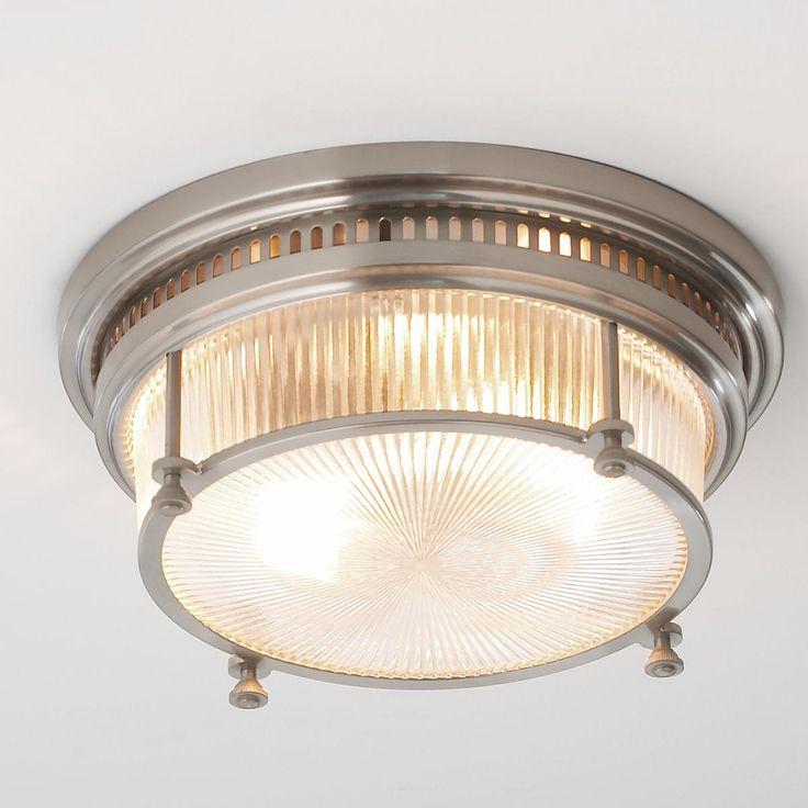 Commercial Light Fittings Nz: Fresnel Glass Industrial Flush Mount Ceiling Light