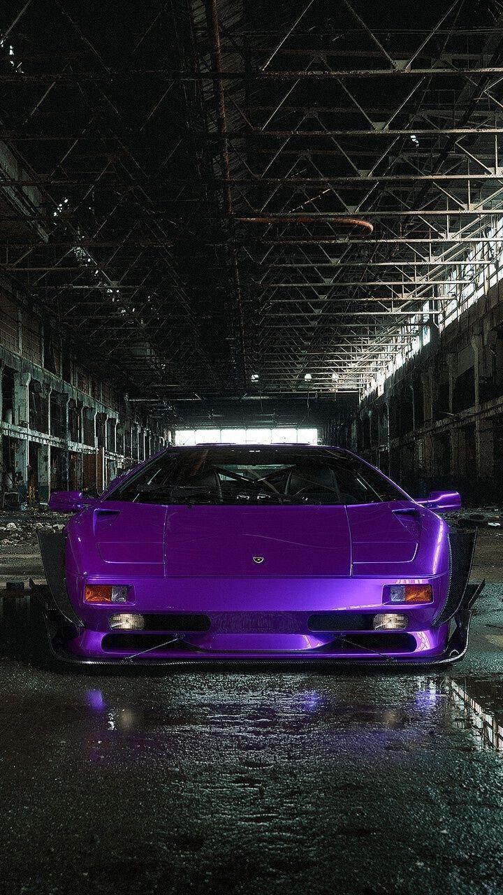 720x1280 Purple Car Sportcar Lamborghini Diablo Wallpaper Purple Car Lamborghini Diablo Black Car Wallpaper