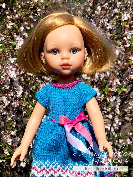 платье спицами для куклы паола рейна с описанием