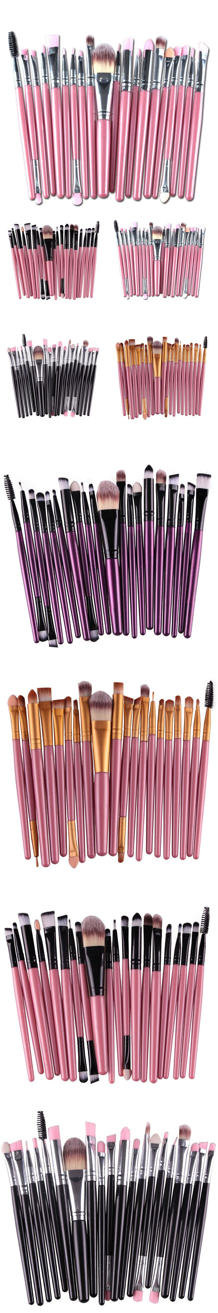 20pcs/set  Makeup Brush Set tools Make-up Toiletry Kit Wool Make Up Brush Set makeup kwasten pinceis de maquiagem maquillaje