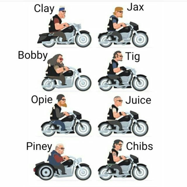 SOA Crew with, there Motorcycles and names!