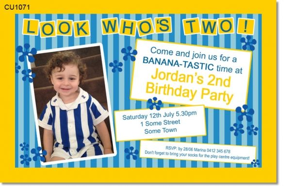 Bananas in Pyjamas Birthday Invitation
