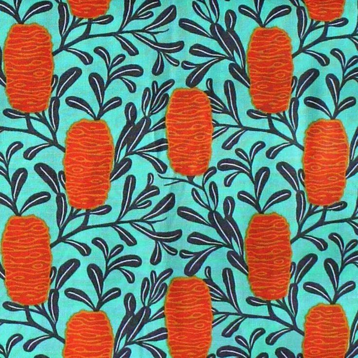 MELBA - ORANGE BANKSIA - by Emma Jean Jansen, Ella Blue Fabrics - by FQ or 25cm