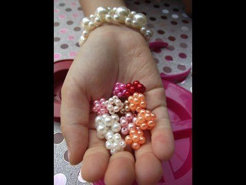 DIY: Como Fazer Lindas Bolinhas De Pérolas - Muito Fácil De Fazer (pearl ball) - YouTube