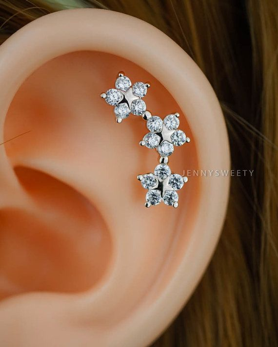 cartilage earring cartilage piercing cartilage stud by JennySweety