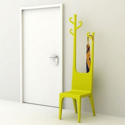 Neon hanger chair: Coats Hooks, Modern Furniture, Coats Racks, Coats Stands, Coats Hangers, Yellow Chairs, Design Studios, Baita Design, Hats Racks