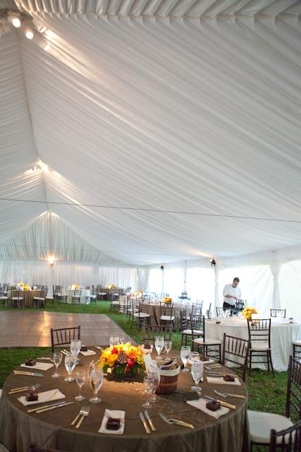 Interior Of Frame Tent With Liner