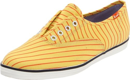 Keds Womens Candy Stripe Slip-On Fashion Sneaker,Yellow,9 M US