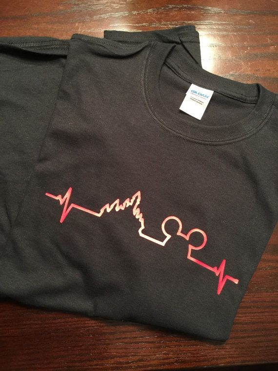For all of the Disney lovers out there! Put your Disney heartbeat on your shirt!  Shirt style is a unisex Gildan style t-shirt. Please indicate - printed shirts, blue and white shirt mens, shirt gents *sponsored https://www.pinterest.com/shirts_shirt/ https://www.pinterest.com/explore/shirts/ https://www.pinterest.com/shirts_shirt/cool-shirts/ http://us.asos.com/men/shirts/cat/?cid=3602