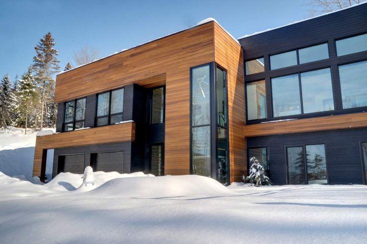 Revetement bois torr fi prix recherche google les maisons pinterest - Revetement bois exterieur maison ...