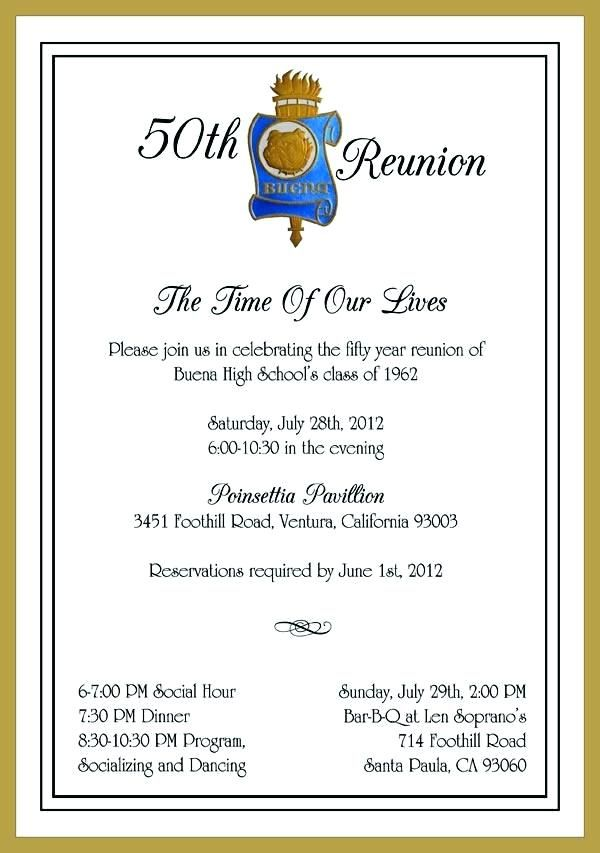 Family Reunion Invitation Letter Family Class Reunion Invitations Reunion Invitations 50th Class Reunion Ideas