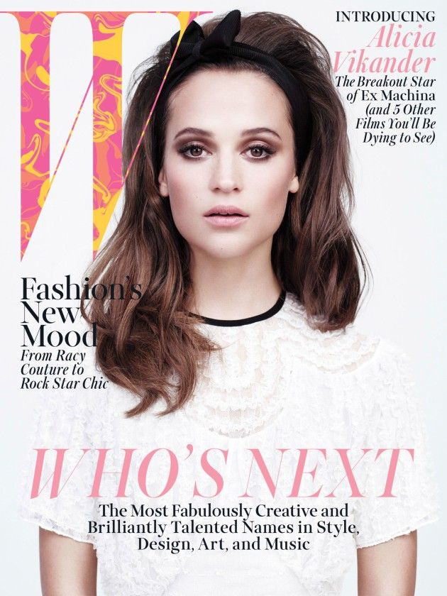 Alicia Vikander by Willy Vanderperre for W Magazine April 2015 Coverstory