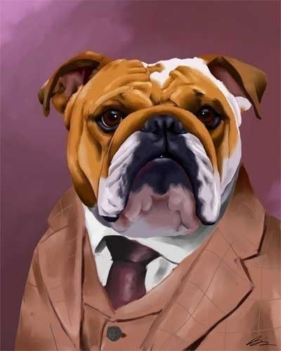 """Brian Rubenacker is an amazing artist. His dog art is a must have. Boston terriers, Pugs, Bulldogs & more, he captures their """"other"""" side. Star wars, who knew. Check out rubenacker on Etsy. Put some fun on the wall!"""