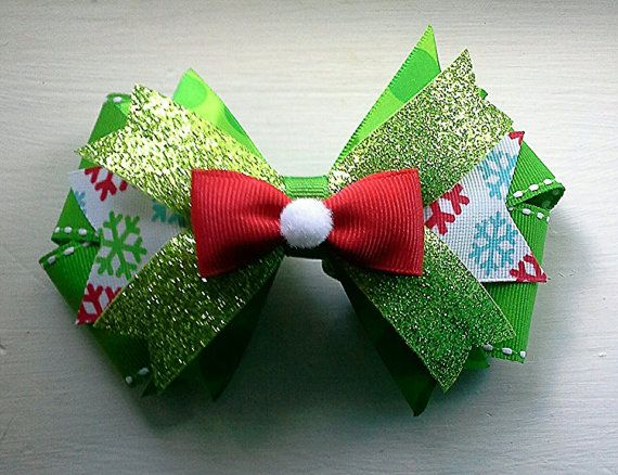 Christmas Hair Bow for girls / toddlers by TheJMarieBoutique, $7.00