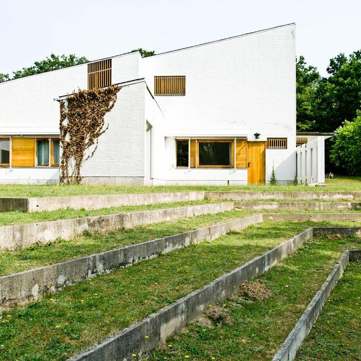 Idea per 'terrazzare ' il terreno intorno la casa. Arquitectura. Vivienda unifamiliar. Viviendas. Alvar Aalto