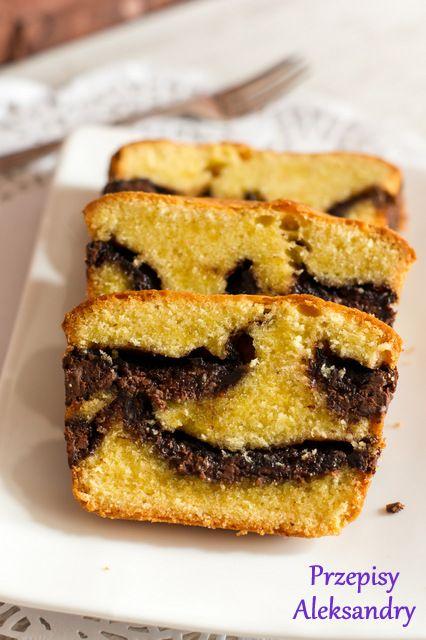 Przepisy Aleksandry: Vanilla and Nutella pound cake/ WANILIOWA BABKA Z NUTELLĄ