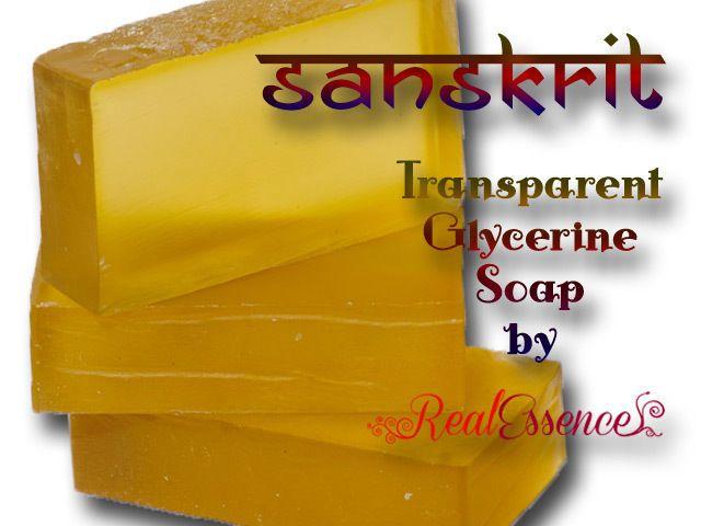 Transparent Sanskrit Soap, handmade in Australia