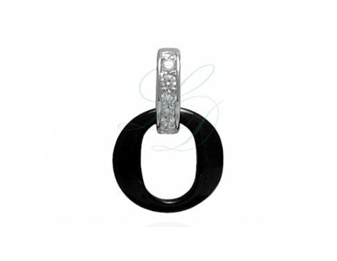 KAROLIN BLACK CERAMIC CHARM - Trendy charm with diamonds made of High-Tech ceramic - LucyDiamonds.cz