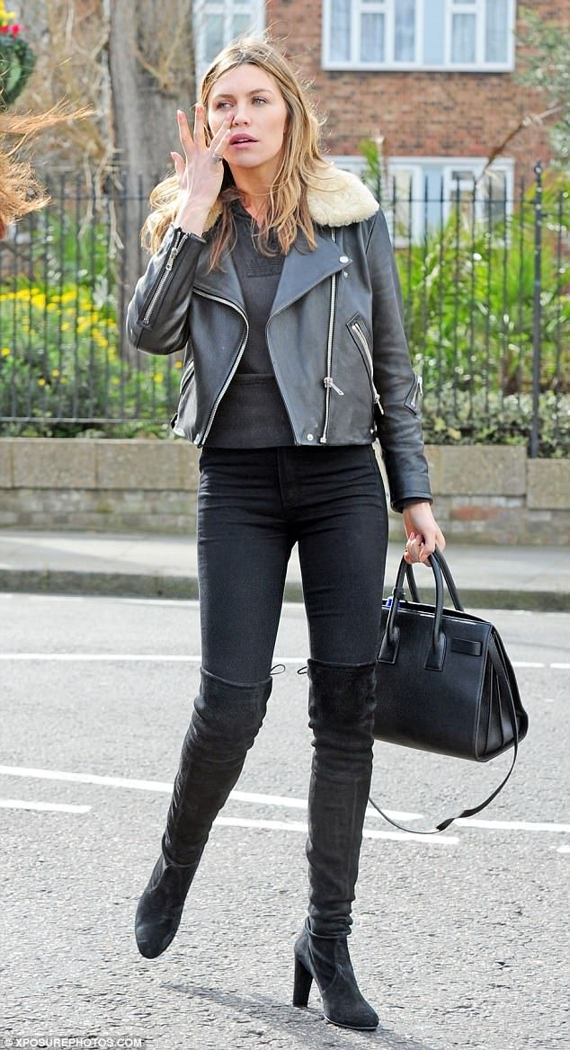 Abbey Clancy shoots scenes for Britain's Next Top Model #dailymail