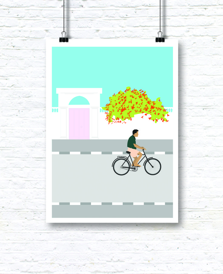 Ilustration inspired by the city of pondicherry