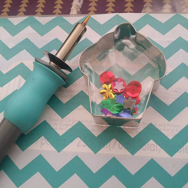 So I'm going to use my cupcake cutter to fuse some shaker first time trying…
